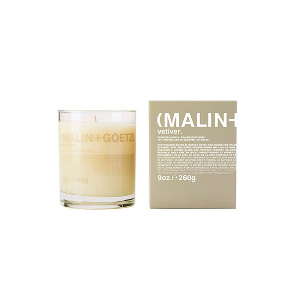 MALIN + GOETZ VETIVER CANDLE (VELA DE VETIVER)