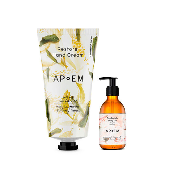 APOEM RESTORE HAND CREAM (+ MINITALLA DE REGALO DE REPLENISH BODY OIL)